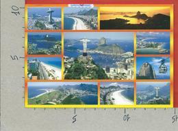 CARTOLINA VG BRASILE - RIO DE JANEIRO - Vedutine Multivue - 10 X 15 - ANN. 2005 - Rio De Janeiro