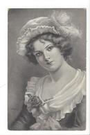21508 - Magnifique Portrait De Femme Chapeau Et Rose C. Kopal - Femmes