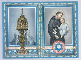 RELIQUIA RELIC RELIQUARY RELIKWIE Saint Antoine Avec Morceau De Toile Ayant Approché La Langue Du Saint PADOVA - Religion & Esotérisme