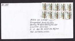 Ghana: Airmail Cover To Netherlands, 1997, 10 Stamps, Fort, Heritage, Inflation (minor Damage) - Ghana (1957-...)