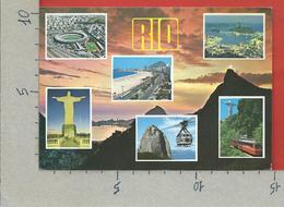 CARTOLINA VG BRASILE - RIO DE JANEIRO - Vedutine Multivue - 10 X 15 - ANN. 1997 MECCANICA ROSSA - Rio De Janeiro