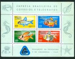 BRAZIL #1130  -  FISH  - PISCICULTURE AND AQUARIUM  - 1969  MINT - Brazil