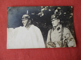 RPPC German Soldier {Our Friends}  Spike Helmet  Caption On Back       Ref 3173 - Militaria
