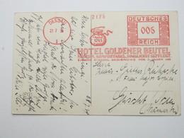 1934 , DESSAU  , Klarer Firmen Freistempel Auf Karte - Deutschland