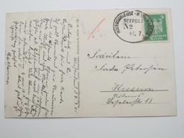 1925 , HOYERSCHLEUSE - MUNKMARSCH SEEPOST Nr.      , Klarer Aptierter Stempel Auf Karte - Deutschland