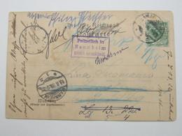 1898 , Mannheim - Polizeilich Nicht Ermittelt , Suchstempel Auf Ansichtskarte Aus Mannheim - Deutschland