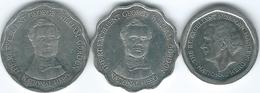 Jamaica - Elizabeth II - 5 Dollars - 1996 (KM163): 10 Dollars - 2000 (KM181) & 2008 (KM190) - Jamaique
