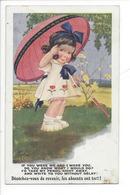 21511 - Fillette Ombrelle Dépêchez-vous De Revenir Les Absents Ont Tort Commique Série - Cartes Humoristiques