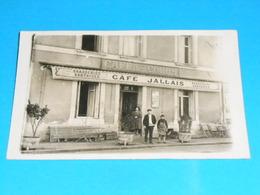 """86 ) Poitiers : Cartes Photo : Brasseries Nantaises : Café Des Cours """" JALLAIS """" Année  : EDIT : - Poitiers"""