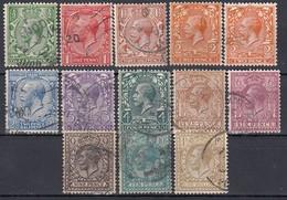 GB 1912 - MiNr: 127 - 140 13 Werte  Used - 1902-1951 (Könige)