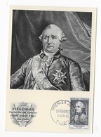 """Carte Maximum """"Vergennes"""" 1955 - Maximum Cards"""