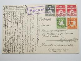 1936, OSLO ,  PAQUEBOT , Klarer Stempel Als Entwertung Auf Dänemark Frankatur, Karte Nach Deutschland - 1913-47 (Christian X)
