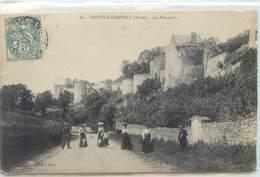 CPA 02 Aisne Coucy Le Chateau Les Remparts - France