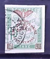 NOUVELLE-CALEDONIE - TAXE - N°10 - Oblitéré (o) - NON DENTELE - Postage Due