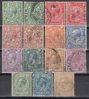GB 1924 - MiNr: 154 - 165 Mit Wz Verkehrt Komplett  Used - 1902-1951 (Könige)