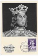 """Carte Maximum """"Philippe Auguste"""" 1955 - Maximum Cards"""