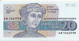 BULGARIE 20 LEVA 1991 UNC P 100 - Bulgarie