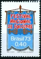 BRAZIL #1302  - FOLKLORE NATIONAL FESTIVAL - FOLK FESTIVAL - FESTIVITIES   1973 - Unused Stamps