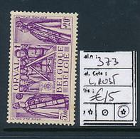 BELGIQUE COB 373 LH - Unused Stamps