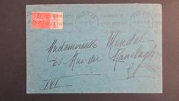 """Lettre Paris 1932  Type Semeuse N° 199 Bande Pub """" Les Jeunes Français Lisent Benjamin """" - Marcophilie (Lettres)"""