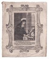B. S. Maria De Genua, Grande Gravure 17,1 X 21 Cm. - Images Religieuses