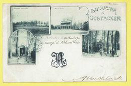* Oostakker - Oostacker (Gent - Gand) *  Souvenir D'Oostacker, Old Vieille Carte 1900, Hotel Grotte, Pensionnat, Christ - Gent