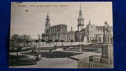 Dresden Blick Auf Kgl. Schloss U. Kgl. Hofkirche Germany - Dresden