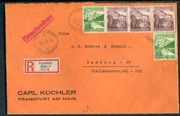 Deutsches Reich / 1938 / Mi. 681 MiF A. Reco-Brief Ex Frankfurt (10252) - Deutschland