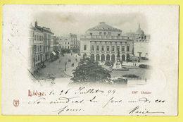 * Liège - Luik (La Wallonie) * Vieille Carte De 1899, Old Postcard, Théatre, Tram, Vicinal, Unique, TOP, Rare - Luik