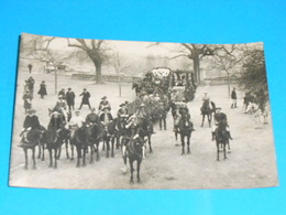 """36 ) Chatillon-sur-indre - Carte Photo  """" Cavalcade """"  N° 4 - Attelage  : On Coinche - France"""