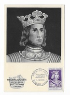"""Carte Maximum """"Philippe Auguste"""" 1955 - Maximumkaarten"""