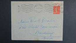 """Lettre Marseille  1927  Type Semeuse N° 199 Bande Pub """" SECOURS Incendie """" - Marcophilie (Lettres)"""
