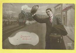 * Gent - Gand (Oost Vlaanderen) * (REX 4454) Souvenir De Gand, Gare, Bahnhof, Train, Zug, Trein, Locomotive, Fantaisie - Gent