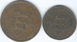 Jersey - Edward VII - 1/24 - 1909 (KM9) & 1/12 Shilling - 1909 (KM10) - Jersey