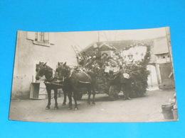 "36 ) Chatillon-sur-indre - Carte Photo  "" Cavalcade ""  Attelage  - On Coinche - France"