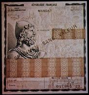 FRANCE COURS D'INSTRUCTION 4 Documents D'Essai Mandats Postal, Cheque De Voyage Avec Et Sans Surcharges SPECIMEN - Cheques & Traveler's Cheques