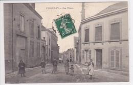 51 VERZENAY Rue Thiers ,enfants Dans La Rue , écrite à Famille Baudart - France