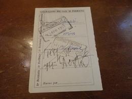 BIGLIETTO TRENO GRATUITO DA PALERMO AD AOSTA-1951 - Treni