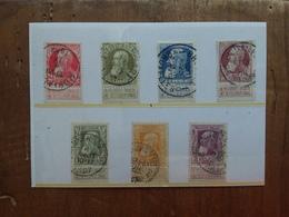 BELGIO 1905 - 75° Anniversario Indipendenza - Nn. 74/80 Timbrati + Spese Postali - Belgio