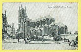 * Gent - Gand (Oost Vlaanderen) * La Cathédrale Saint Bavin, Sint Baafs Kathedraal, église, Kerk, Animée, Char, Old - Gent