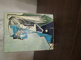 Tableau 26 X 21   Peinture Marqué Derriere Travaux Pratiques Dirigés   PICASSO   Portrait De Jeune Femme - Dessins