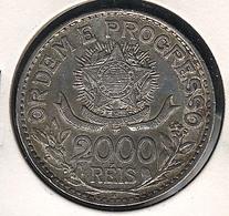 Brasilien. 2000 Reis 1913 A, Silber, XF - Brésil