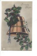 21513 - Fröhliches Neujahr Cloche Et Branche De Houx - Nouvel An