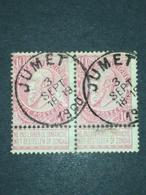 COB N ° 58 Oblitération Jumet 1900 - 1893-1900 Fine Barbe