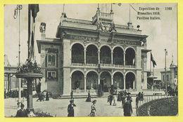 * Brussel - Bruxelles - Brussels * (Editeurs Valentine & Sons) Exposition, Expo 1910, Pavillon Italien, Animée, Rare - Wereldtentoonstellingen