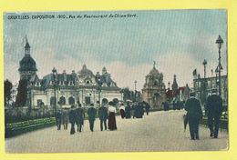 * Brussel - Bruxelles - Brussels * Exposition, Expo 1910, Vue Du Restaurant Du Chien Vert, Animée, Couleur, Rare - Wereldtentoonstellingen