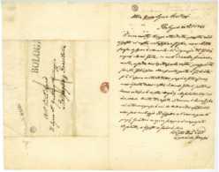 Bologna 1844 Autographe Cammillo GRASSI Pro-legato Bertzuzz Sinigaglia Roncitelli - Autographs