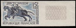 FRANCE Essais  1172 Essai En Bicolore, Bleu + Noir, Bdf: Tapisserie De Bayeux, Cavaliers - Essais