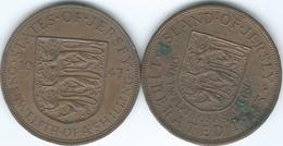 Jersey - George VI - 1/12 Shilling - 1945 - Liberation (KM19) & 1947 (KM18) - Jersey