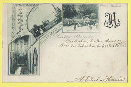 * Oostakker - Oostacker (Gent - Gand) * Vieille Carte De 1900, Old Postcard, Souvenir D'Oostacker, Chateau, église Messe - Gent